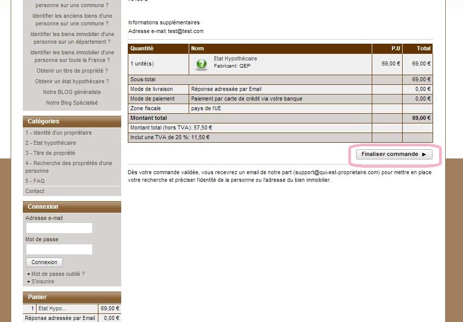 Qui est propri taire le site sp cialis dans la recherche immobili re p - Comment retrouver un titre de propriete ...